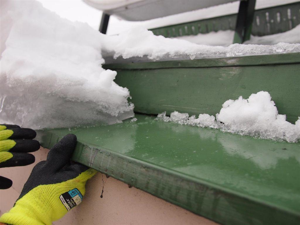 Lämpövuotokaton lumenpudotus on tehtävä ennen kuin lumi muuttuu jääksi.