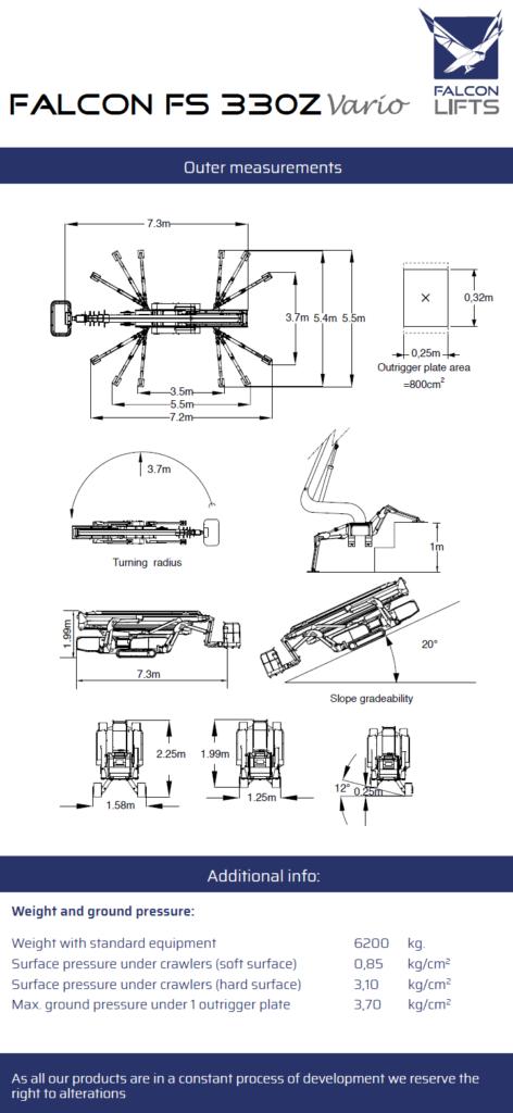 Falcon Spider 330z Vario ulkomitat